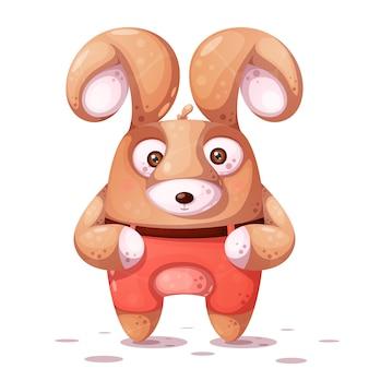 큰 눈을 가진 미친 토끼.