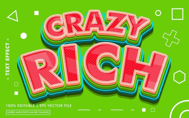 Crazy rich text effect style