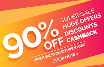 Crazy sale offer discount banner voucher template design