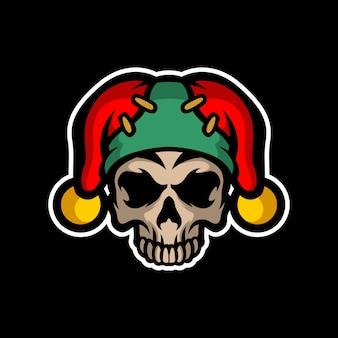 Crazy skull clown