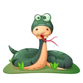 Crazy snake illustration