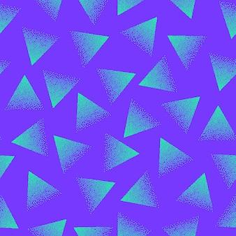 미친 생생한 색상 복고풍 스타일 80 년대 추상 점묘 원활한 패턴
