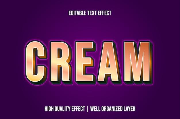 Cream, editable modern text effect font styles