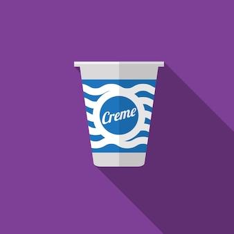 Cream flat icon illustration isolated vector sign symbol