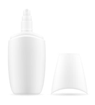흰색 플라스틱 용기 포장에 크림 로션