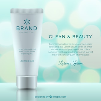 Cream packaging background