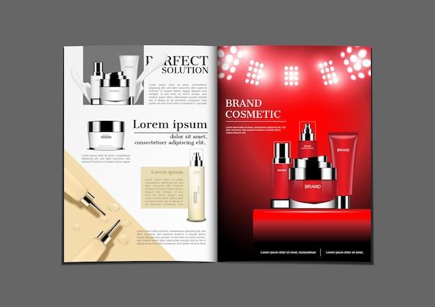 Cream and serum for magazine