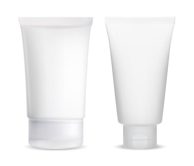 化粧品容器イラスト用クリームチューブ