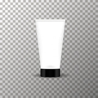 Cream tube mockup on the transparent background vector.