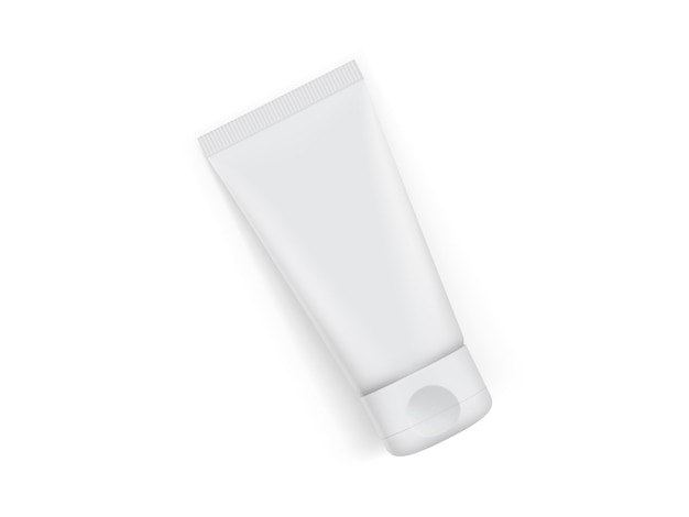 白い背景で隔離クリームチューブ包装