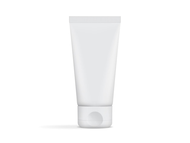 Cream tube packaging isolated