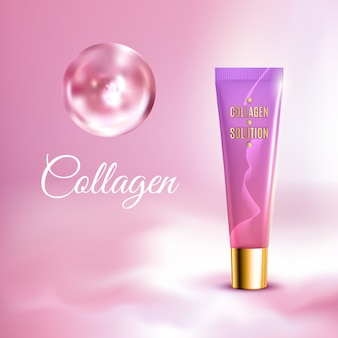 Cream tube realistic background