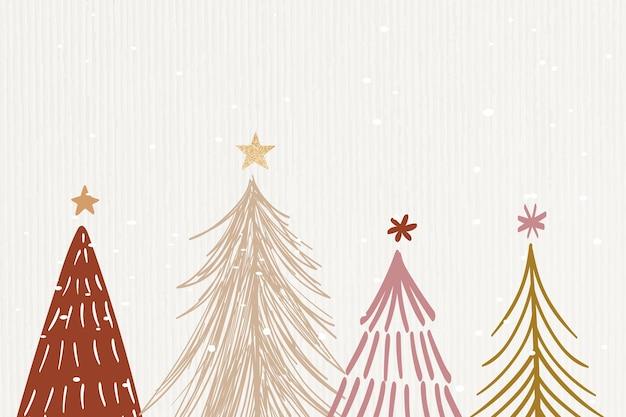 Крем зимний фон, рождество эстетический дизайн вектор