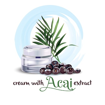Cream with acai extract