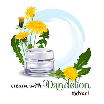 Cream with dandelion extract