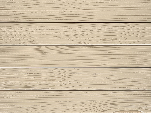 Cream wood texture with old painted pine planks vector