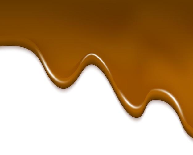 고립 된 크림 초콜릿 그림