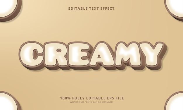 Сливочный редактируемый текстовый эффект