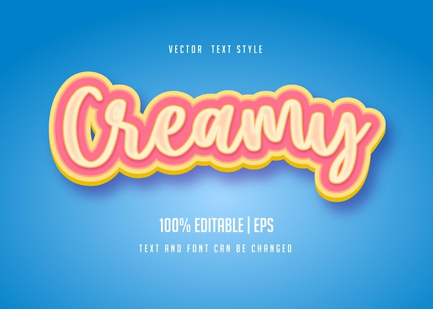 Creamy t editable text style