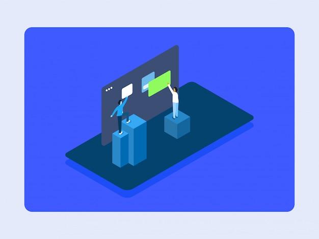 Create folder isometric