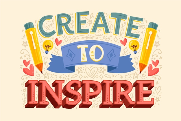 Create to inspire famous design lettering