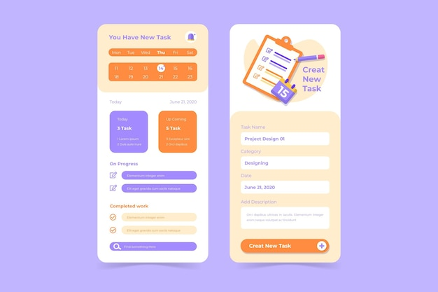 Create tasks with task management mobile app