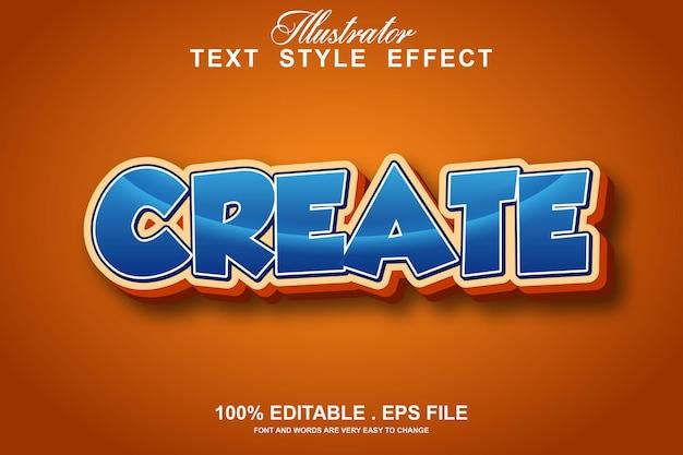 Создать текстовый эффект редактируемый