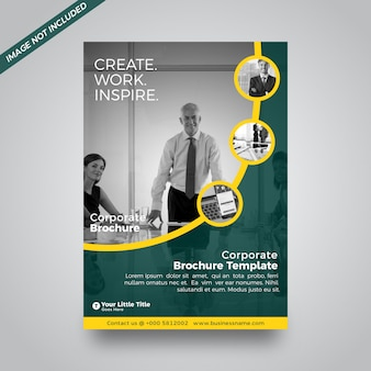 Create work inspire business abstract brochure cover design