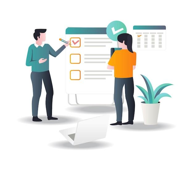 ビジネスを成長させるための作業計画とスケジュールを作成する