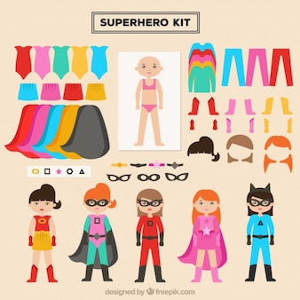 Create your heroine with this kit