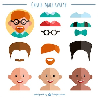 Create your male avatar Vector   Free Download