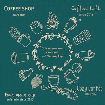 Create your own coffee shop logo.