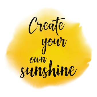 Создайте свой собственный источник цитаты sunshine