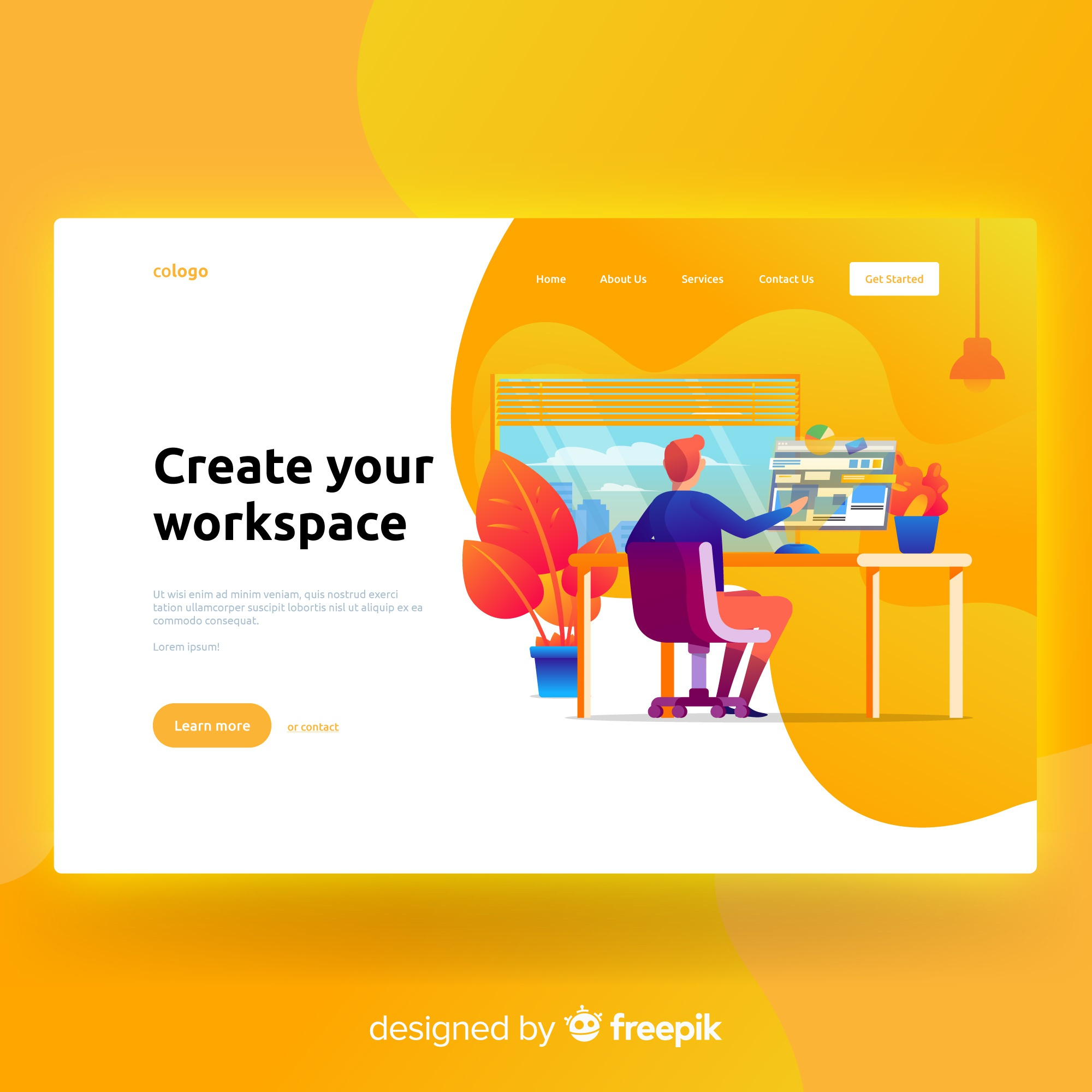 Create your workspace landing page