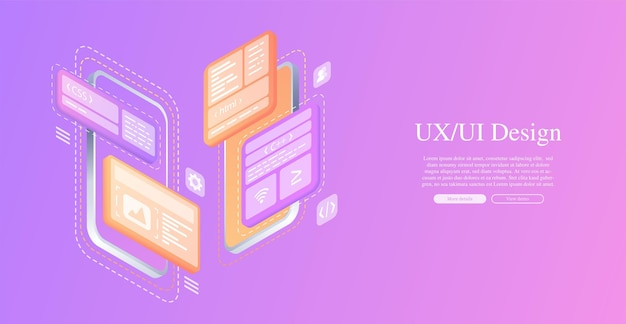 Creates a custom design for a mobile application ui ux designdevelopment of applications design