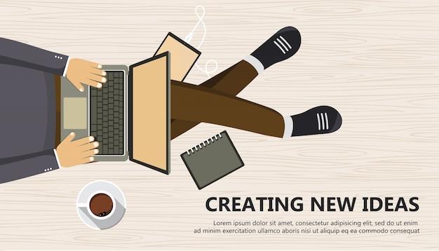 新しいアイデアの創造ビジネスバナー
