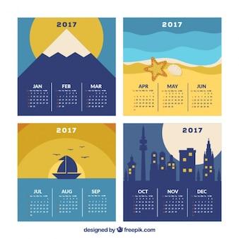 Creativo 2017 del calendario