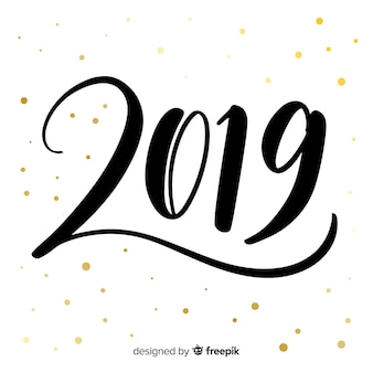 Creative 2019 lettering background