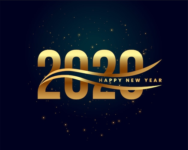 Creative 2020 happy new year golden background