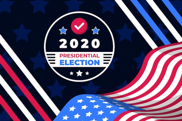 Creative 2020 presidential election in usa background