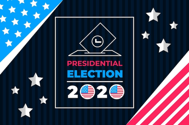 Carta da parati creativa delle elezioni presidenziali del 2020 negli stati uniti