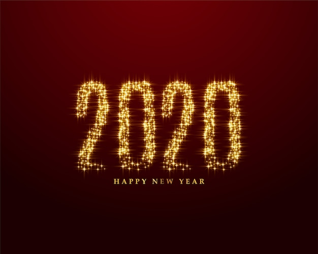 Creative 2020 written in sparkles style background