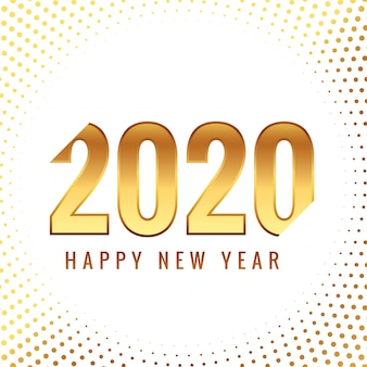 Creative 2020 золотая новогодняя открытка