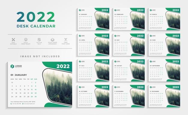 Creative 2021 desk calendar design template