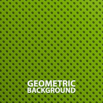 Creative 3d abstract green geometric background.