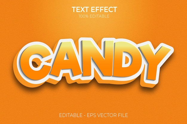 Creative 3d candy text effects premium vector