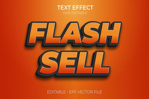 Creative 3d flash sale gradient color text effects premium vector