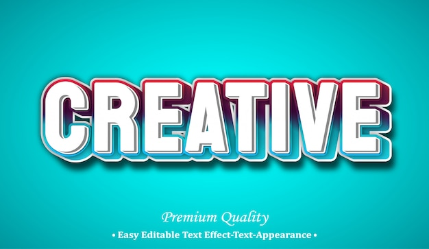 Creative 3d font style effect