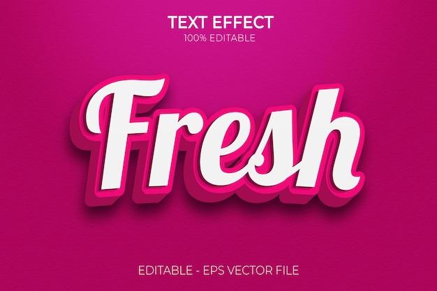 Creative 3d fresh bold text effectpremium vector