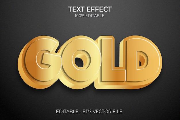 Creative 3d golden text effect premium vector